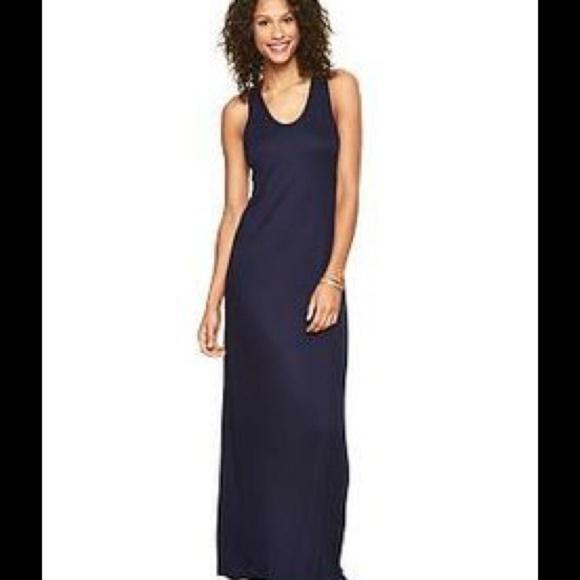 GAP Dresses & Skirts - Gap Twist Racerback Navy Maxi Dress